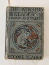 Antique 1927 The Winston Readers Second Reader ILLUSTRATED Firman and Malty