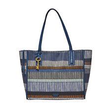 Fossil Emma Tote SHOPPER Handbag Navy Stripe Zb7133475