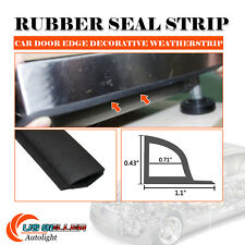 "108"" Universal Car Door Rubber All Weather Seal Strip Weatherstrip Noise Reduce"