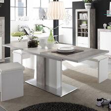 Esstisch Jump Beton Dekor Weiss Wohnzimmer Tisch Ausziehbar 160x210 Cm