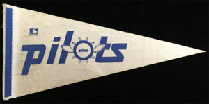1969 Seattle Pilots VTG Mini Felt Pennant Only Year MLB Expansion Pre Mariners W