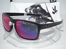 OAKLEY MARC MARQUEZ MOTOGP SLIVER SUNGLASSES OO9262-20 MATTE BLACK /POSITIVE RED