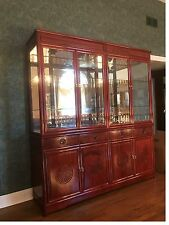 "Rosewood Design China Cabinet (70""x78""x17"")"
