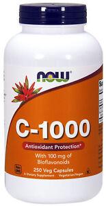 NOW Supplements Vitamin C-1000 - 250 Capsules