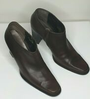 Nine West Brown Leather Ankle Boots / Size 9