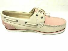 Timberland Women's Classic Boat Shoes Light PINK & Off-White 8146A SIZE 9.5 USA