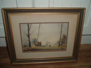 """ORIGINAL WATERCOLOUR BY """" JOHN SNELLING"""" A WALK IN THE PARK , SIGNED,FRAMED."""