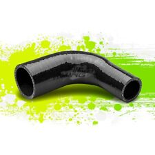 "1.25""TO 1.75""3-PLY UNIVERSAL 90 DEGREE ELBOW COUPLER REDUCER SILICONE HOSE BLACK"