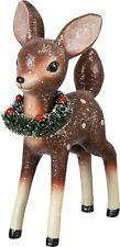 "Standing Deer with Christmas Wreath Vintage Design 9"" New"