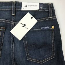 7 Seven For All Mankind Size 24 The Ankle Gwenevere Ankle Skinny Dark Wash Jeans
