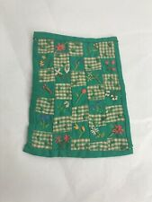 Vintage Miniature  Hand Embroidered Dollhouse Quilt