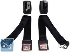 1964-65 GM A B X Body Front Deluxe Seat Belt Retractor Set Black