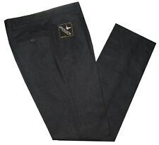 Pantalone uomo flanella misto lana 46 48 50 52 54 56 58 60 antracite grigio scur