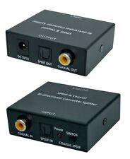 Bi-Direktional Audio Konverter: Koaxial ⟺ Optisch + 2x Kabel(Koaxial/Toslink1.5)