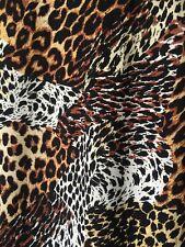 Animal leopard tiger print viscose fabric dress blouse material 145cm x 280cm
