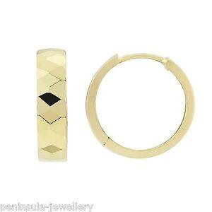 9ct Gold Huggie Hoop earrings Wedding Band Gift Boxed Birthday Gift
