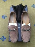 Gucci Womens Shoes Brown Suede Horsebit Loafers UK 2 US 4 EU 35 Ladies