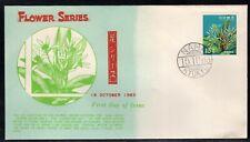 Ryukyu Islands 1963 Flower Series 15c on Illustrated FDC