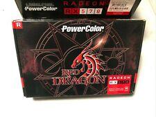 PowerColor Red Dragon Radeon RX 570 4GB Graphic Video Card AMD ATI 4GBD5-3DHD/OC