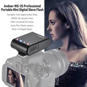 Andoer Portable Digital Mini Flash Speedlite F Nikon Canon Camera Camcorder R2G6