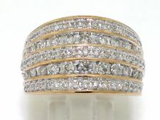 Brillant Ring Gelbgold Gold 83 Brillanten total 1ct Wesselton