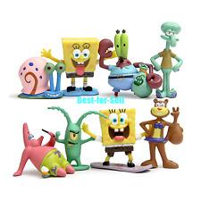 8pcs Set SpongeBob Squarepants Patrick Star Squidward Tentacles PVC Figure Toy