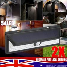2x 54 LED Solar Power LED PIR Motion Sensor Outdoor Garden Security Wall Light