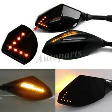 BLACK CLEAR LED TURN SIGNALS REARVIEW MIRRORS FOR SUZUKI M109 R C50 M50 CRUISER