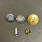 Vintage Masonic Pin Sterling Tie Tack Lot of 5 Mason Shriner Emblem Freemason