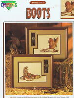 Cowboy Boots Counted Cross Stitch Chart Pattern 2 Designs
