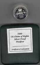 In scatola 1989 PIEDFORT SILVER PROOF £ 2 Rivendicazione di diritto con certificato