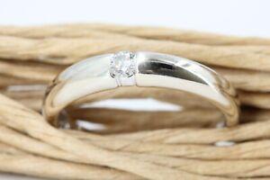 CHRIST Ring Diamant Gold 585 Weißgold 14K Solitär 1 Brillant 0,10 ct. W P1 Gr 58