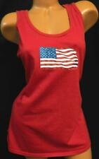 Austin clothing co. red american flag plus size stretch tank top XXL