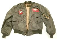 L28 Bomber Flying Aviator Jacket WWII WW2 Air Force USAF Rolen Sportswear RARE