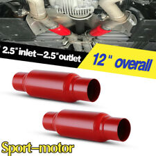 "Pair Sport Race Performance Diesel Mufflers 2.5"" Inlet / 2.5"" Outlet 12"" Long"
