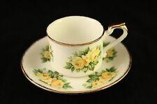 Vtg Paragon Fine Bone China Yellow Flower Peace Rose Demitasse Cup & Saucer R208