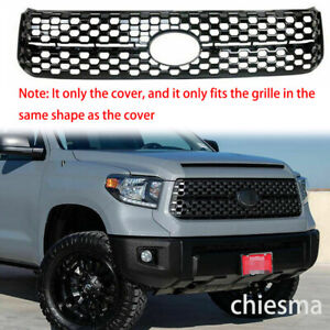 For 2018- 2020 Toyota Tundra Platinum SR5 Grille Grill Cover Trim Gloss Black