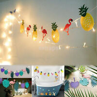 DIY Hawaiian Tropical Flamingo Pineapple Banner Garland Party Decoration Supply