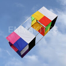 HOT 85CM Traditional 3D Box Single Line Kite with Handle Line for Kids Outdoors