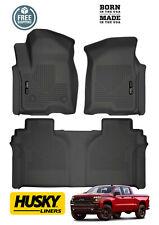 Husky WeatherBeater Floor Mats 2019+ Chevrolet Silverado 1500 Crew Cab Black F&R