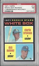1971 Topps baseball card #13 Chicago White Sox Rookies Brinkman Moloney PSA 7 NM