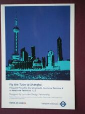 POSTCARD LTM-724 2007 POSTER FLY THE TUBE TO SHANGHAI