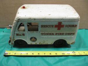 1950's Tonka Rescue Squad No. 5 Fire dept Van.