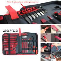 26PCS Car Panel Removal Tools Kit Red Trim Removal Tool Set Nylon POM for Car
