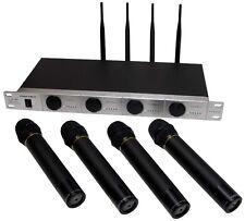 4 Professional Dynamic UHF AUS Standards DJ/PA Wireless Microphone Effective 50M