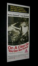 Original 1970 ON A CLEAR DAY YOU CAN SEE FOREVER Australian Daybill STREISAND