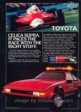 1982 Toyota Supra Grand Prix Race Original Advertisement Print Art Car Ad J792