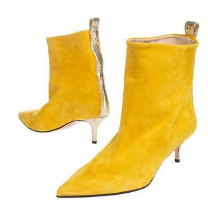 RRP €120 MARC ELLIS Suede Leather Ankle Boots Mismatch Size L 39 R 38 Metallic