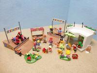 Freizeit Park Skaterbahn Eis Cafe Grill Figuren Kinder  Playmobil 963