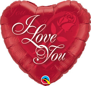 Foil Smiley Face Love Valentine Balloons Qualatex